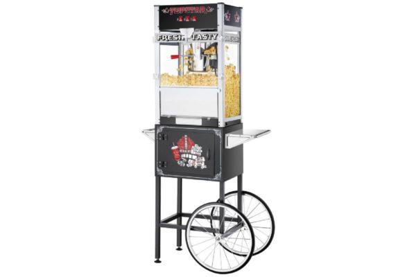 popcorn, popcornmaskin, popcornmaskin på vagn