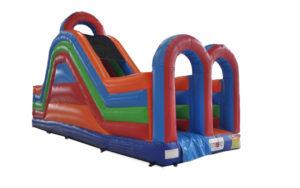 hinderbana, hinderbana för barn, rutschkana, uppblåsbart, hoppborg, hyra hoppborg, kick-off, after work, aw, barnkalas