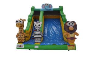 Safarihoppborg , safarirutschkana, rutschkana, uppblåsbart, hoppborg, hyra hoppborg, kick-off, after work, aw, barnkalas